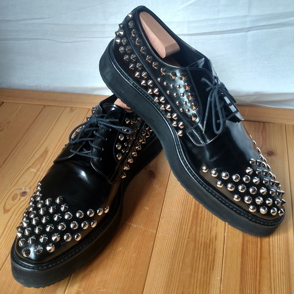 Prada Other - Men's PRADA Studded Platform Spazzolato Leather